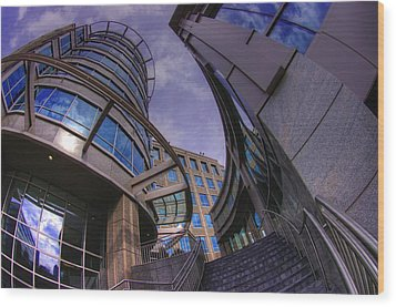 Wood Print featuring the photograph Reflections And Curves by Dennis Baswell