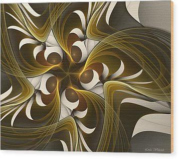 Curves Wood Print