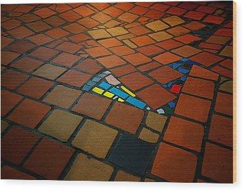 Curvy Floor Wood Print by Ivan Slosar