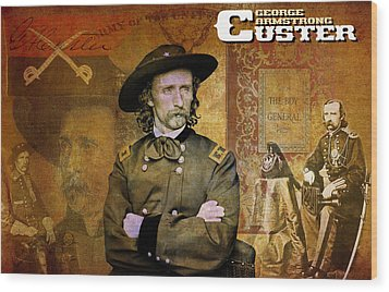 Custer Wood Print