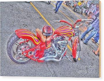 Wood Print featuring the photograph Custom Bike by Jim Lepard