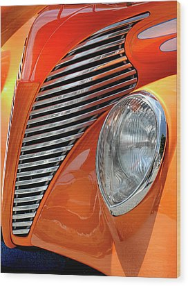 Wood Print featuring the photograph Custom Car Detail by Dave Mills