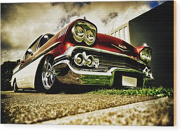 Custom Chevrolet Bel Air Wood Print by motography aka Phil Clark