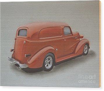 Custom Delivery Truck Wood Print by Paul Kuras