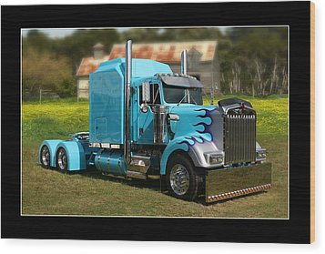 Wood Print featuring the photograph Custom Kenworth by Keith Hawley