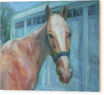 Custom Pet Portrait Painting - Original Artwork -  Horse - Dog - Cat - Bird Wood Print by Quin Sweetman