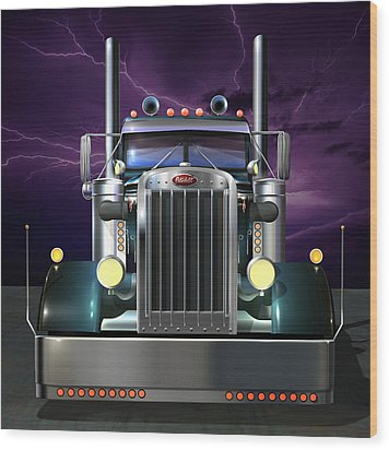 Custom Peterbilt 3 Wood Print