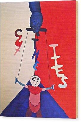 Cut The Ties Wood Print by Jessica Sanders