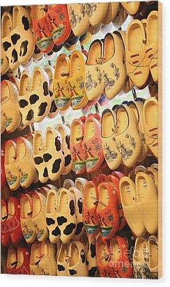 Cute Clogs Wood Print by Carol Groenen