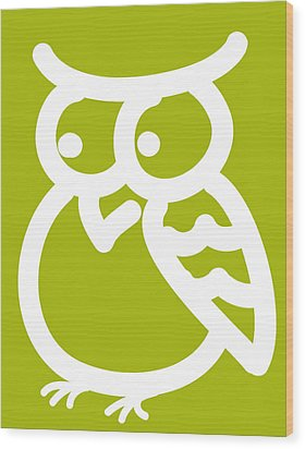 Cute Owl Nursery Print Wood Print by Nursery Art