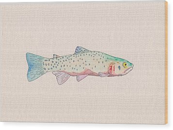 Cutthroat Trout Wood Print by Stephen Moore