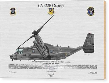 Cv-22b Osprey 71st Sos Wood Print by Arthur Eggers