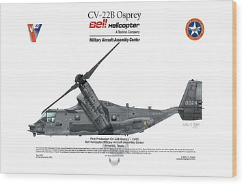 Wood Print featuring the digital art Cv-22b Osprey by Arthur Eggers