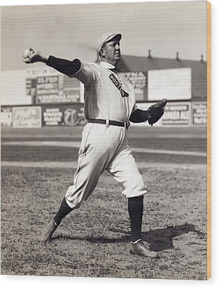 Cy Young - American League Pitching Superstar - 1908 Wood Print by Daniel Hagerman