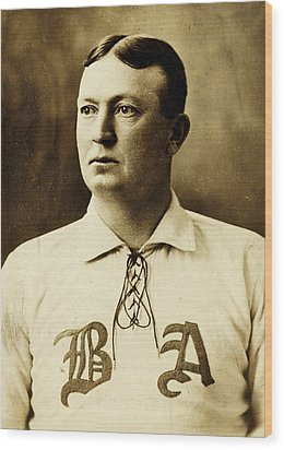 Cy Young Wood Print by Benjamin Yeager