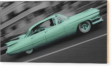 Cyan Caddy Wood Print by Phil 'motography' Clark