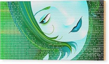 Cyberpunk Wood Print by Sandra Hoefer
