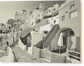 Wood Print featuring the photograph Cycladic Style Houses by Aiolos Greek Collections
