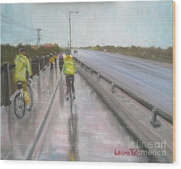 Cycle Club Wood Print