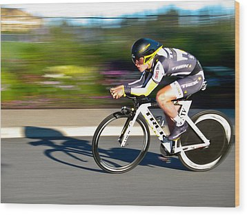 Wood Print featuring the photograph Cycling Prologue by Kevin Desrosiers