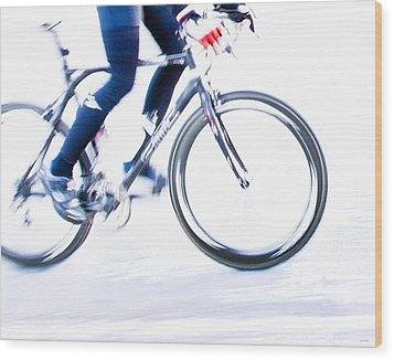 Cycling Wood Print by Theresa Tahara