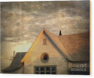 Cyclops House Wood Print by Gregory Dyer