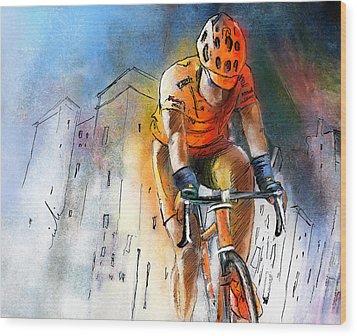 Cycloscape 01 Wood Print by Miki De Goodaboom