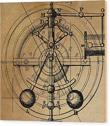 Cyclotron Wood Print by James Christopher Hill