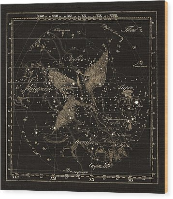 Cygnus Constellations, 1829 Wood Print by Science Photo Library