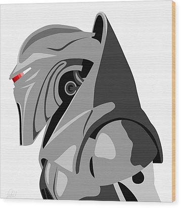 Cylon Wood Print by Paul Dunkel