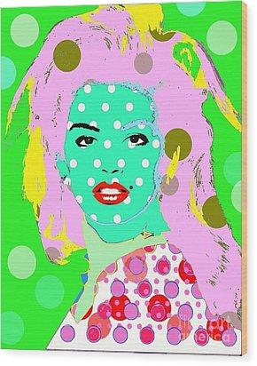 Cyndi Crawford Wood Print by Ricky Sencion