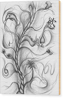 Cynthia Centipeda Wood Print by Michael Morgan