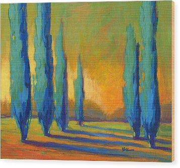 Cypress Road 5 Wood Print