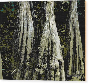Wood Print featuring the photograph Cypress Three by Sally Simon