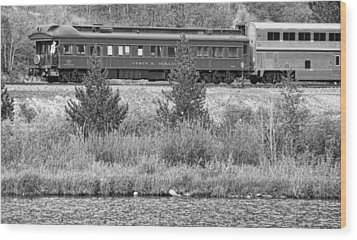Cyrus K  Holliday Private Rail Car Bw Wood Print by James BO  Insogna