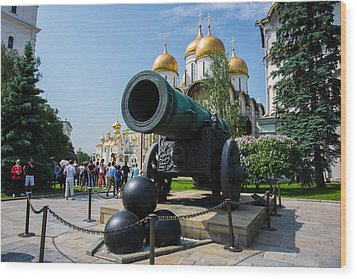 Czar Cannon Of Moscow Kremlin - Featured 3 Wood Print by Alexander Senin