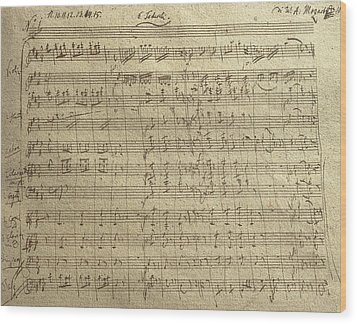 Czech Republic Prague Symphony No. 38 In D Major Called Prague Symphony Wood Print by Wolfgang Amadeus Mozart
