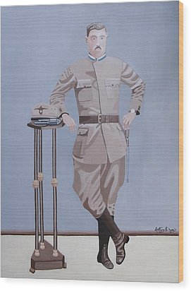 Czech Soldier Wood Print by Anthony Morris