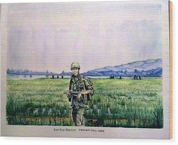 Dad In Viet Nam Sold Wood Print by Richard Benson