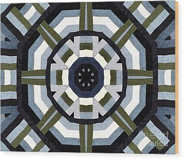 Daddy's Denims Quilt Wood Print by Barbara Griffin