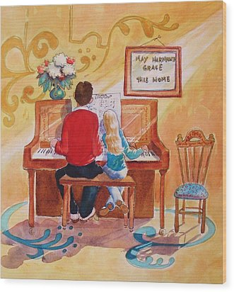 Daddy's Little Girl Wood Print by Marilyn Jacobson