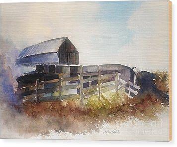 Dad's Farm Wood Print