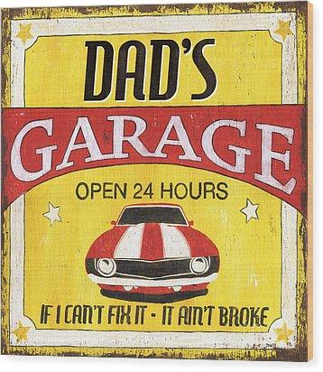 Dad's Garage Wood Print by Debbie DeWitt