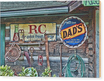 Wood Print featuring the photograph Dad's by Kenny Francis