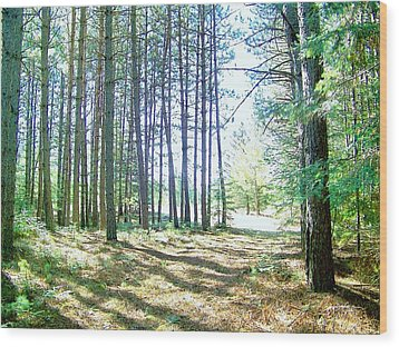 Wood Print featuring the photograph Dad's Woods I by Shirley Moravec