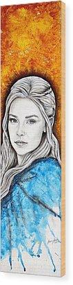 Daenerys Targaryen Wood Print by Anastasis  Anastasi