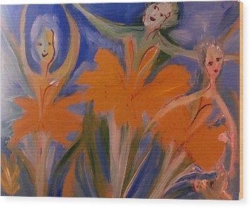 Daffodil Ballet Wood Print by Judith Desrosiers