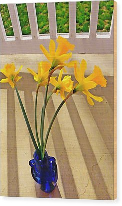 Daffodil Boquet Wood Print by Chris Berry