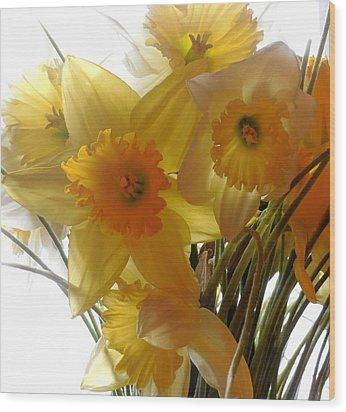 Daffodil Bouquet Wood Print by Karen Molenaar Terrell