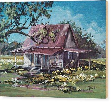 Daffodil Hill Wood Print